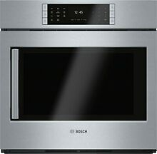 Bosch HBLP451RUC 30  Single Electric Wall Oven 4 6 cu  ft Display Very Clean