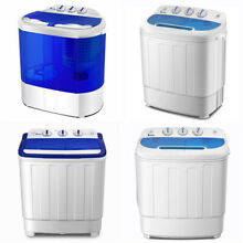 10 16LBS Portable Washing Machine MiniCompact Twin Tub Laundry Washer Spin Dryer