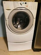 27 In  White Duet Energy Star Qualified Whirlpool Front Load Washer 3 8 cubic ft