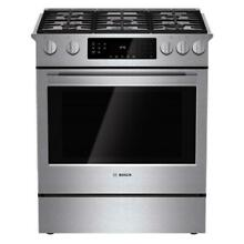 Bosch HGI8054UC 30  Stainless Steel Slide in Gas Range w True Convection NOB