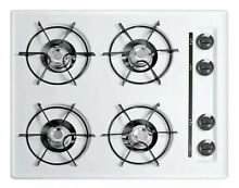 Summit Appliances 24 in  Gas Cooktop WHITE w  4 Burners
