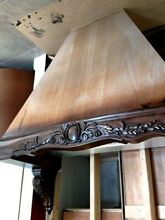 NEW Wood Carved Kitchen Hood 48 w x 42 tall   2  Acanthus Corbels  No blower