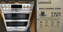 SEALED Samsung Stainless Steel 30  Gas Slide In Range Flex Duo Dual NX58K9850SS