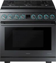 Samsung Chef Collection NY36R9966PM 36 Inch Smart Slide In Duel Fuel Pro Range