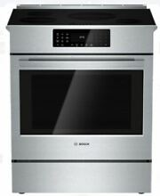Bosch 800 Series HII8055U Stainless Steel Slide In Induction Range W  Convection