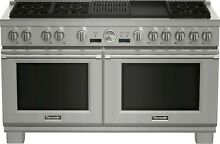 Thermador Pro Grand Series PRD606RCG 60  Stainless Steel Dual Fuel Gas Range NEW