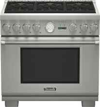 Thermador Pro Grand PRD366JGU 36  Stainless Steel Pro Style Dual Fuel Range