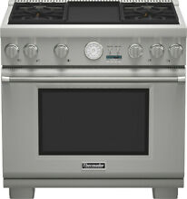 Thermador Pro Grand PRG364JDG 36  Stainless Steel Pro Style Gas Range