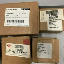 BOX OF MISC REFRIGERATOR PARTS WHIRLPOOL  GE  ELECTROLUX