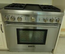 PRD364GDHU THERMADOR 36  PRO STYLE DUAL FUEL RANGE STAINLESS STEEL