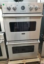 VIKING PROFESSIONAL DOUBLE 30  WALL OVEN STAINLESS STEEL REFURBISHED
