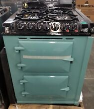 AGA 24  DUAL FUEL RANGE WITH CONVECTION OVEN SEALED BURNERS PISTACHIO COLOR