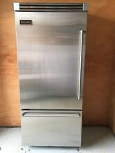 Viking Refrigerator 36 bottom mount Stainless Steel Pro Style handle VCBB363LSS