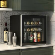 60 Can Beverage refrigerator or Wine Cooler with Glass Door