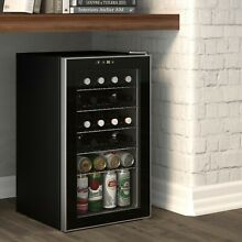 85 Can Beverage refrigerator or Wine Cooler with Glass Door