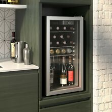 90 Can Beverage refrigerator or Wine Cooler with Glass Door