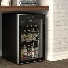 126 Can Beverage refrigerator or Wine Cooler with Glass Door