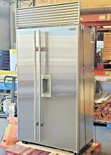 SUB ZERO 42  SIDE BY SIDE 685 REFRIGERATOR  NO FLAW STAINLESS STEEL DOORS  CHEAP
