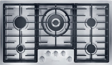 Miele KM2355G 36  Gas Cooktop With 5 Sealed Burners   Stainless Steel Finish