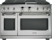 Monogram 48  Pro Style Dual Fuel Range w  4 Burners   Convection ZDP484NGPSS