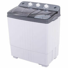 Compact Mini Portable Twin Tub Washing Machine 20 Lbs Total Washer Spain Spinner