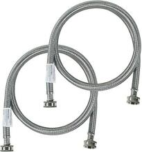 Washing Machine Hoses  2 Pack  Hot and Cold Water Supply Lines Stainless Steel