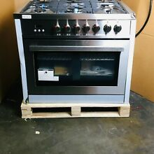36 in  3 8 cu  ft  Single Oven Dual Fuel Range with Convection Oven  OPEN BOX