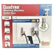 Oatey 38569 Quadtro Copper Sweat Washing Machine Outlet Box with Hammers 2 Inch