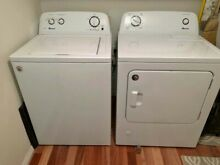 Amana Washer   Gas Dryer Set with 3 5 and 6 5 Cubic Ft   Excellent Condition