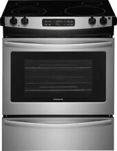 Frigidaire FFES3026TS 30  Stainless Steel Smoothtop Electric Slide in Range