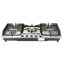 30  Stainless Steel Cooker Stoves Cooktops Gold Built in 5 Burner NG LPG Gas Hob