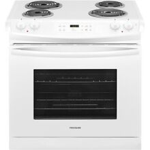 Frigidaire  FFED3016TW 30  White 4 Burner Electric Drop in Range