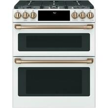 Cafe CGS750P4MW2 30 Inch Smart Slide In Double Oven Gas Range with Wi Fi Connect