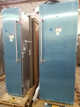 VIKING 30  REFRIGERATOR AND 18  FREEZER STAINLESS STEEL NEVER USED