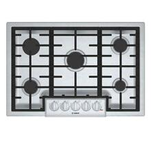 Bosch 800 Series 30 in 5 Burners Stainless Steel Gas Cooktop 19 000 BTU Burner