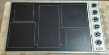 Viking VECU1666BSB 36  Professional Electric Cooktop With Stainless Trim   Black