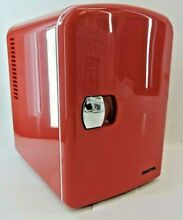 Gourmia Portable Thermelectric 6 Can Mini Fridge Cooler   Warmer   GMF600  RED