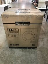 Magic Chef 2 6 cu  ft  Compact Electric Dryer White Apartment Clothes Drying New