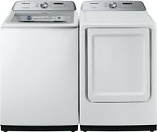Samsung WA50R5200AW Washer   DVG50R5200W Gas Dryer Top Load White Side by Side