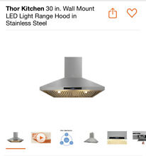 Thor 30  Wall Mount Chimney Range Hood in Stainless Steel with Dual LED HRH3007