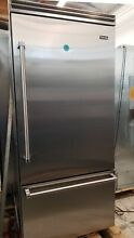 VIKING 36  BUILT IN  REFRIGERATOR RIGHT HINGE IN STAINLESS STEEL GENTLY USED