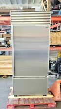 SUB ZERO 650 36  BOTTOM FREEZER NO FLAW STAINLESS STEEL L HANDLE   CHEAPEST