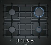 Bosch Gas Hob 23 5 8in Autark Glass Cooktop Gas Range Black Gas Cooktop New 4