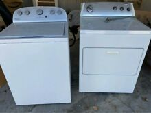 300  Whirlpool Washer   Dryer  White  top loading Washer  front loading Dryer