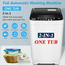 2 IN1 Full Automatic Washing Machine Compact Portable Laundry Washer Spin Dryer