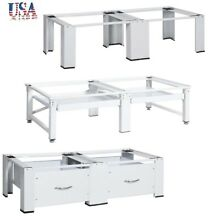 Double Washing and Drying Machine Pedestal White Dryer Stand Drawer Washer Base