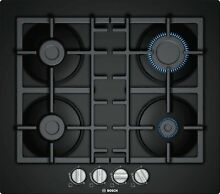 Bosch Gas Hob Installation Cooktop 23 5 8in Autark Glass Black Oven