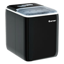 Portable Countertop Ice Maker Machine 44Lbs 24H Self Clean with Scoop Black