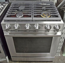 Samsung Chef Collection NX58M9960PS 5 8 cu  ft  30  Gas Pro Range