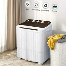 16 5lbs Portable Mini Twin Tub Laundry Appliances for Camping Apartments Dorms